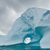 Hole in an iceberg near Cuverville Island.