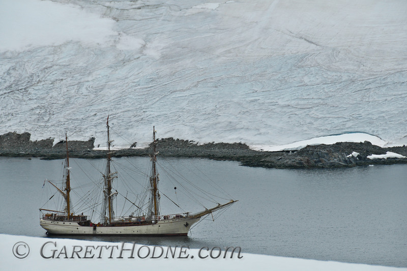 Sailing ship near Port Lockroy.