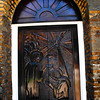 Church door in Belize City