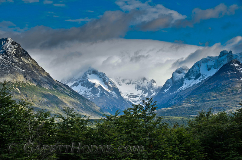 Southern Andes Mountains, Tierra del Fuego along Hwy 3.