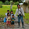My Guide from the Sani Lodge and his sisters during lunch break at school along the banks of the Napo River.