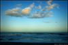 Atlantic Ocean,  as seen from Ocean Park in Melbourne Beach, Florida.  Orton process.