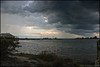 Storm clouds over Indian River Lagoon. Taken at Riverview Park in Sebastian, Florida.