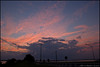 Colorful sunset over the Eau Gallie Causeway, Melbourne, Florida.