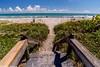 Beach access from boardwalk.  Indialantic, Florida.