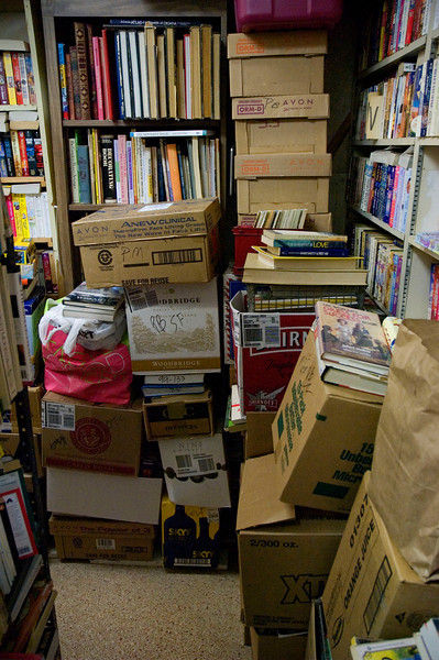 Inside of On The Shelf, a used book store in the old downtown section of Melbourne, Florida.