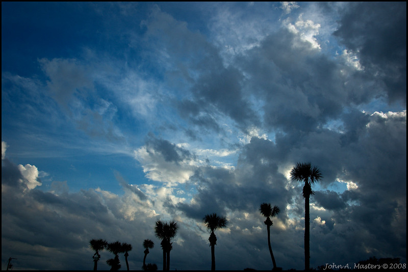 Florida sky.  Taken at Riverview Park in Sebastian, Florida.