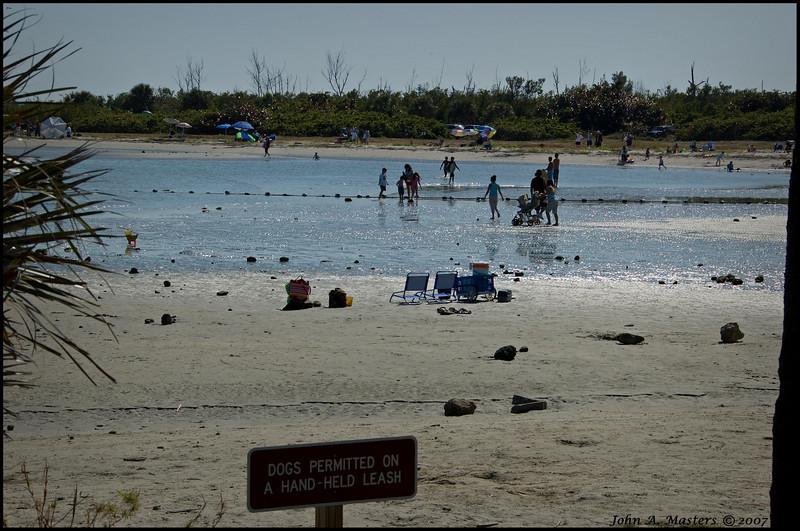 Tide pool for kids at Sebastian Inlet State Park, Sebastian, Florida.