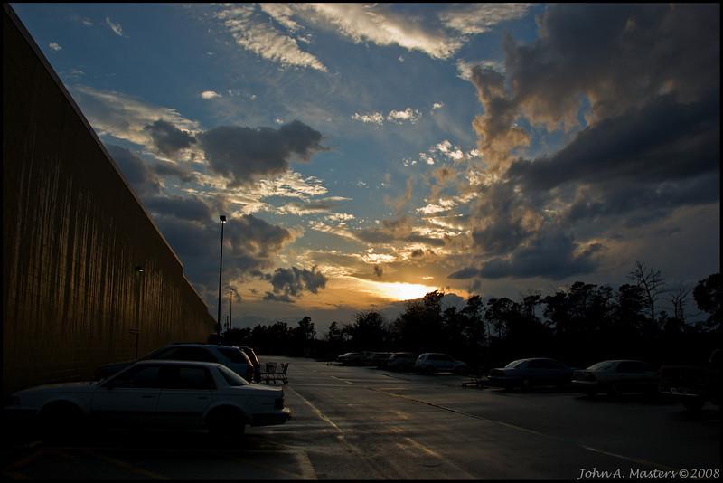 Sunset over Walmart, Sebastian, Florida.