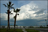Impressive clouds over Indian River Lagoon. Taken at Riverview Park in Sebastian, Florida.