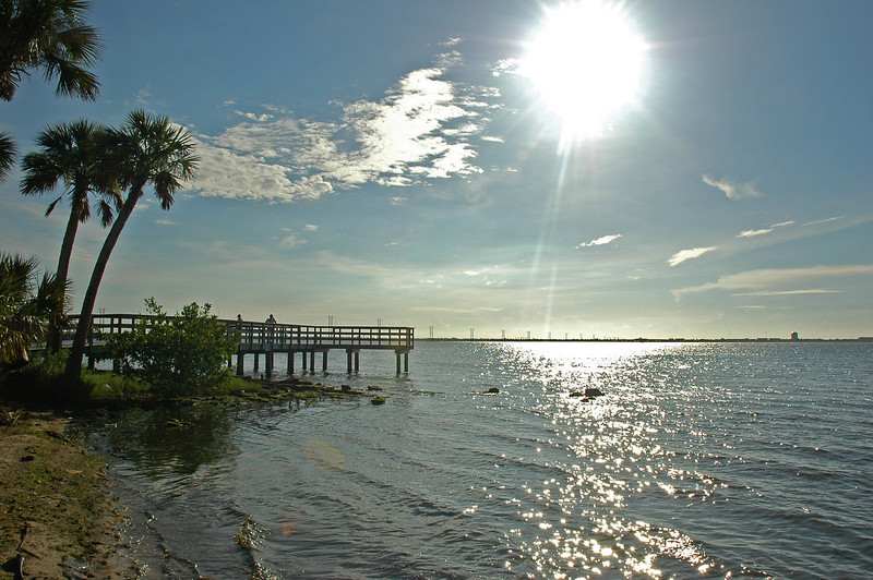 Beautiful day at Castaways Point Park in Palm Bay, Florida.