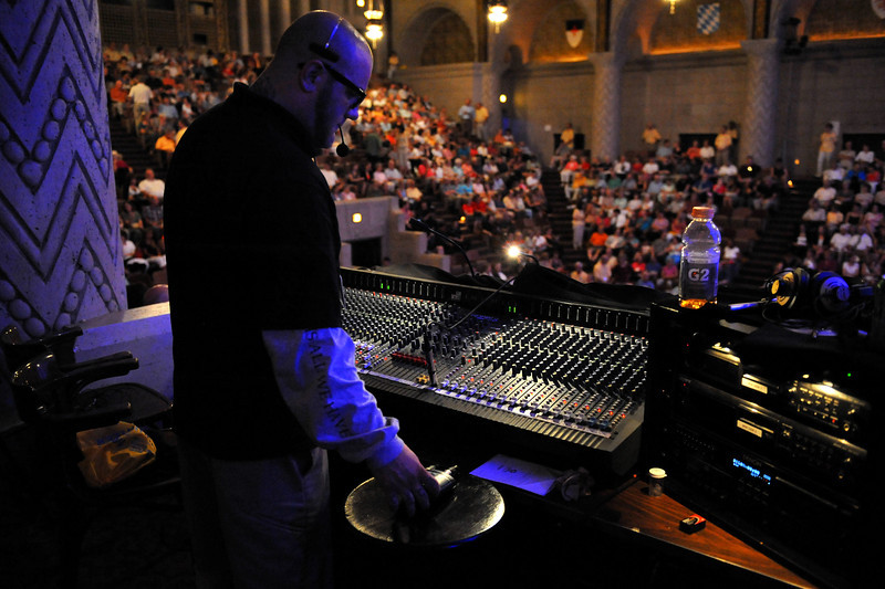Cincinnati Masonic Center Sound Man