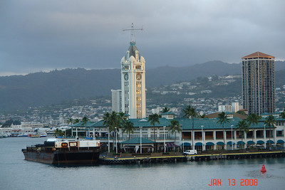 Aloha Tower.  We docked at Pier 2