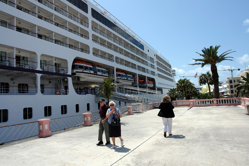 """Following photos were taken on the """"Seven Seas Mariner that was docked next to us in Bermuda."""