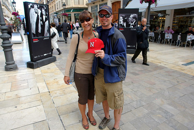 We ran into this couple while in Malaga (they noticed my hat) and they are from Lincoln, Nebraska.