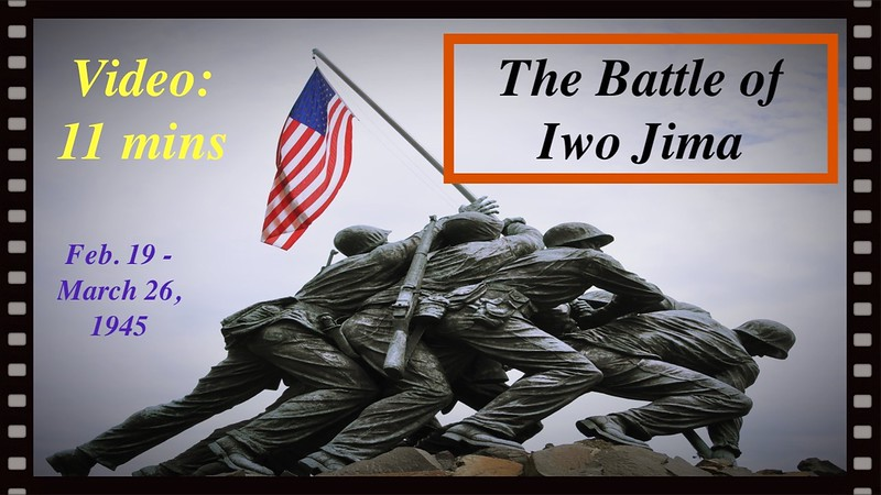 """<a href=""""http://www.youtube.com/v/qWcDIMrd6eE"""">http://www.youtube.com/v/qWcDIMrd6eE</a>?<br /> <br /> The 68th anniversary of the historic Battle of Iwo Jima was Tuesday, February 19, 2013.<br /> The 36-day fight that took place in February and March 1945 resulted in the U.S. capturing the South Pacific island and its three strategic airfields.<br /> The battle was notable for the fierce and bloody fighting that killed more than 6,800 American troops and left more than 18,000 wounded.<br /> It was immortalized on Feb. 23, 1945, by Joe Rosenthal's photo of five Marines and a Navy corpsman raising the American flag atop Mount Suribachi, the highest point on the island.<br /> <br /> On February 23, 2008, Penny and I were on a world cruise and we anchored  at Iwo Jima for a special memorial program.  The atmosphere of the day was quite moving and I <br /> made up the following video as a remembrance:<br /> <br /> <a href=""""http://ray-penny.smugmug.com/World-Cruise-2008/World-Cruise-videos/15796685_L9LGGZ#!i=1715232578&k=2RDkh26&lb=1&s=L"""">http://ray-penny.smugmug.com/World-Cruise-2008/World-Cruise-videos/15796685_L9LGGZ#!i=1715232578&k=2RDkh26&lb=1&s=L</a>"""