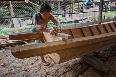 Hand Carving Wood Boats