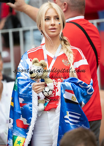 Moscow, Russia- July 1, 2018: Russia vs Spain, round of 16, 2018 World Cup.