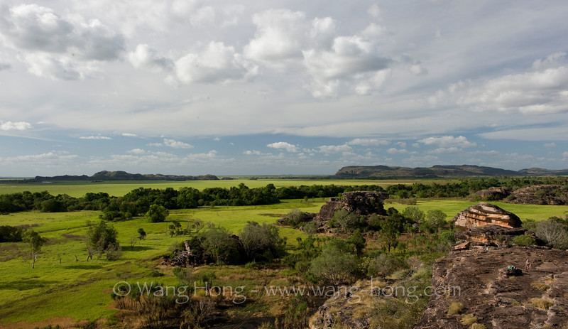 Grand landscape in Kakadu National Park in Northern Territory, seen from Ubirr before sunset.  A humbling scene.