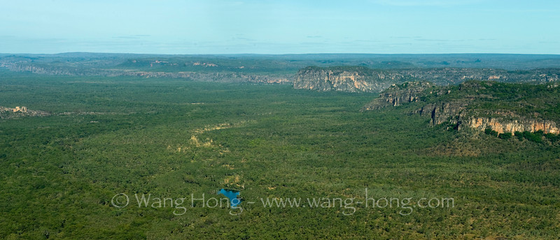 Escarpments, wetland and bilabongs in Kakadu National Park in Northern Territory.