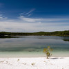 Lake McKenzie on Fraser Island.