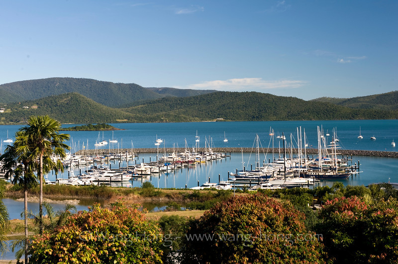 Airlie Beach, the entry point to Whitsunday Islands.