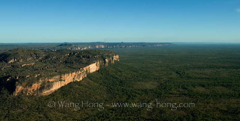 Escarpments and woodland in Kakadu National Park in Northern Territory.