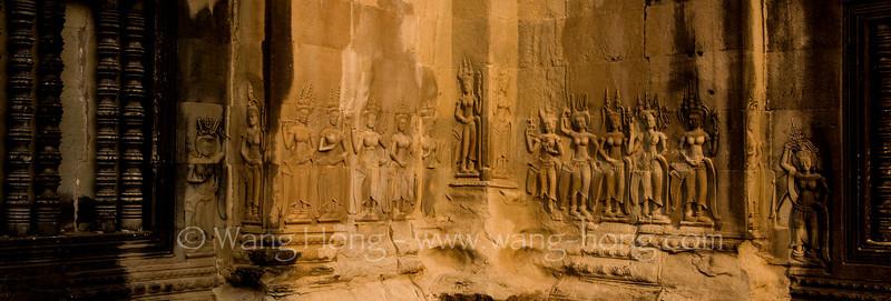 Group of apsaras at Angkor Wat