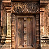 Apsaras at each side of a false door at Banteay Srei