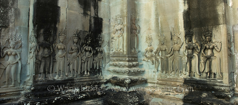 Group of apsaras at Angkor Wat