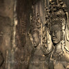Apsara in a mysterious smile at Angkor Wat