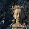 Apsara in a quiet thought at Angkor Wat
