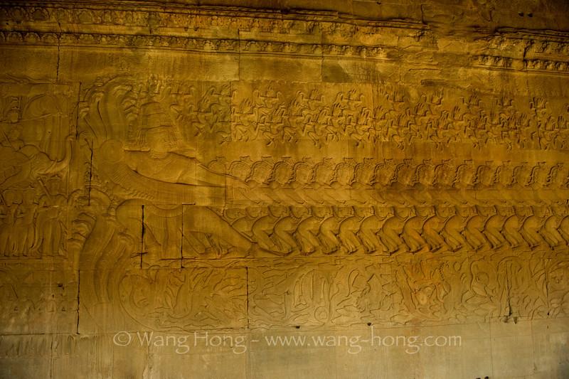Angkor Wat, East Gallery, Churning of the Ocean of Milk