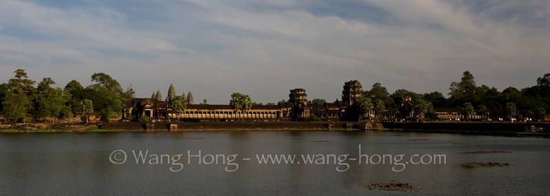Angkor Wat - moat and wall late afternoon