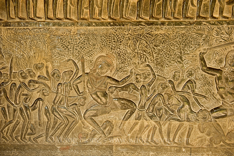 Angkor Wat South Gallery bas relief - judgement of Yama