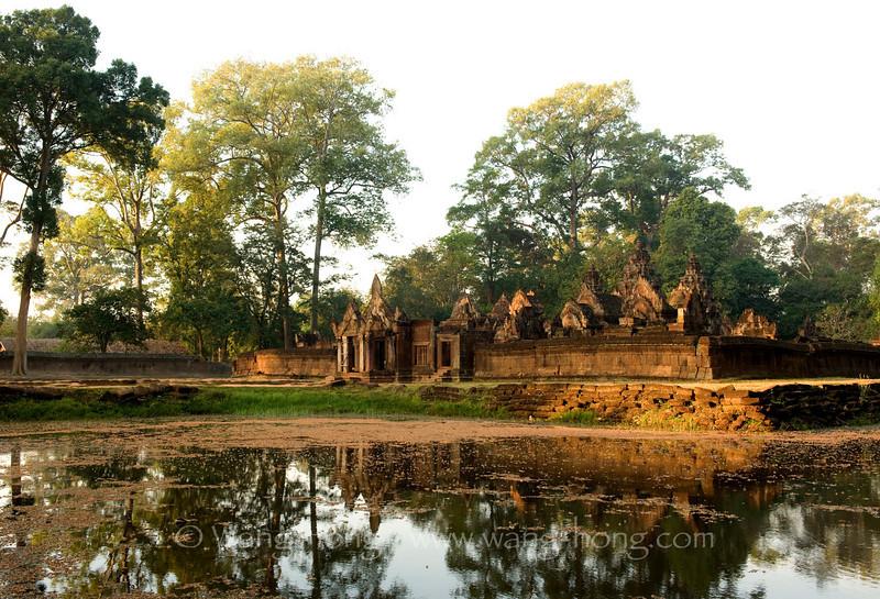 Banteay Srei at sunrise