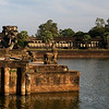 Angkor Wat - lion and Naga at the moat
