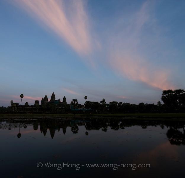 Angkor Wat shortly after sunset