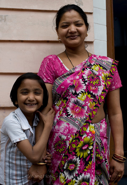 Happy mother and daughter.  Little girld asked me to take a picture of them and laughted very much.