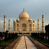 Taj Mahal shortly after sunrise