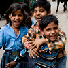 Kids on street in Agra, just outside Taj Mahal