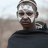 Portrait of a young maasai warrior shortly after circumcision ceremony