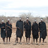 Young maasai warriors shortly after circumcision ceremony