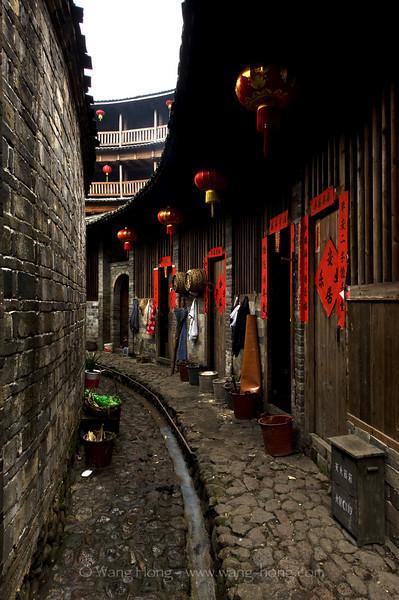 Inside Chengqi Lou, Yongding County