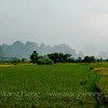 Landscape along our bike route.
