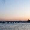 Sunset at Kunming Lake and 17-arch bridge, Summer Palace, Beijing 颐和园昆明湖和17孔桥