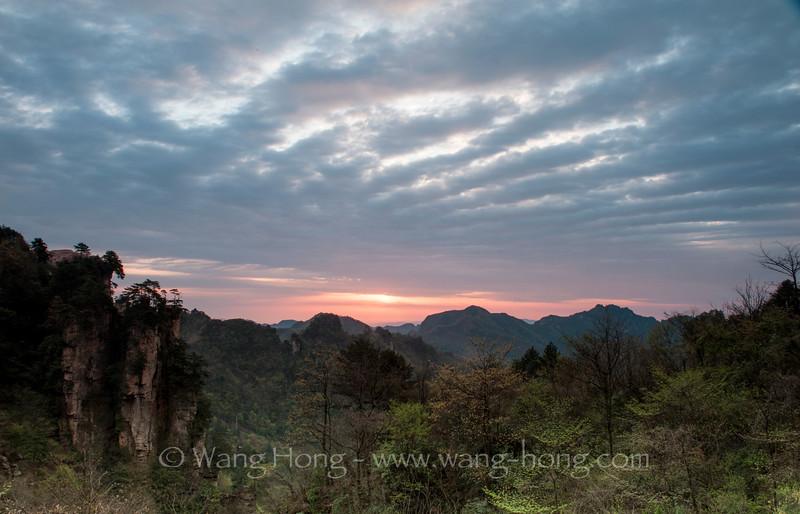 Before sunrise, Tianzishan. 天子山日出时分