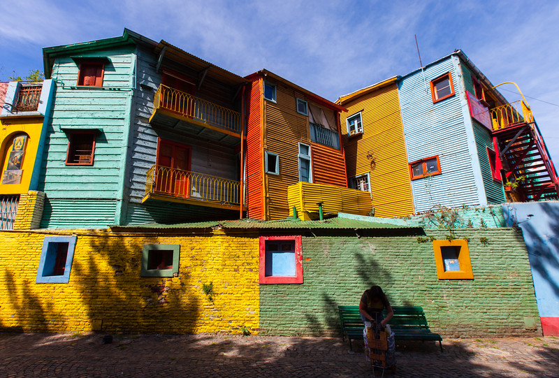 Colorful La Boca District, Buenos Aires, Argentina