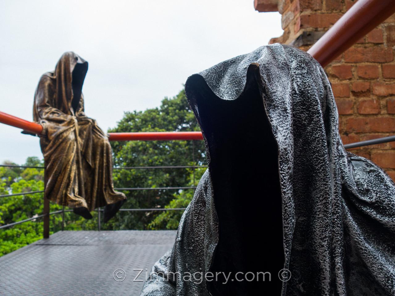 Creepy Statues in Santa Teresa, Rio do Janeiro, Brasil