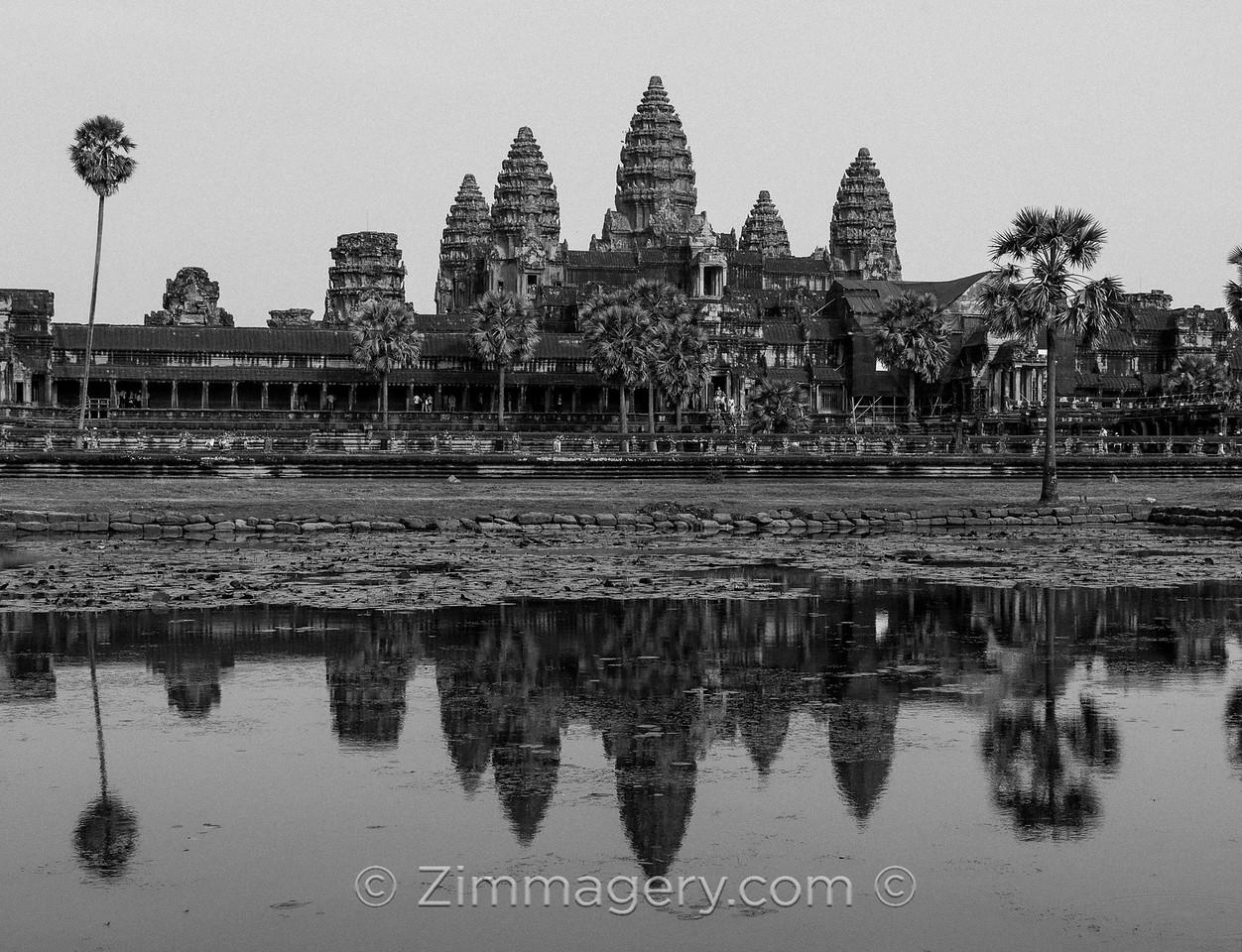B&W Reflections, Angkor Wat, Cambodia